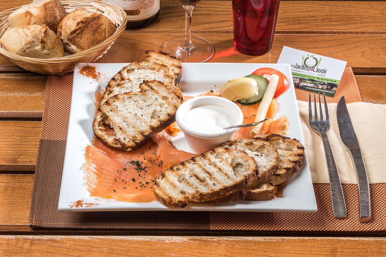 Petite assiette saumon