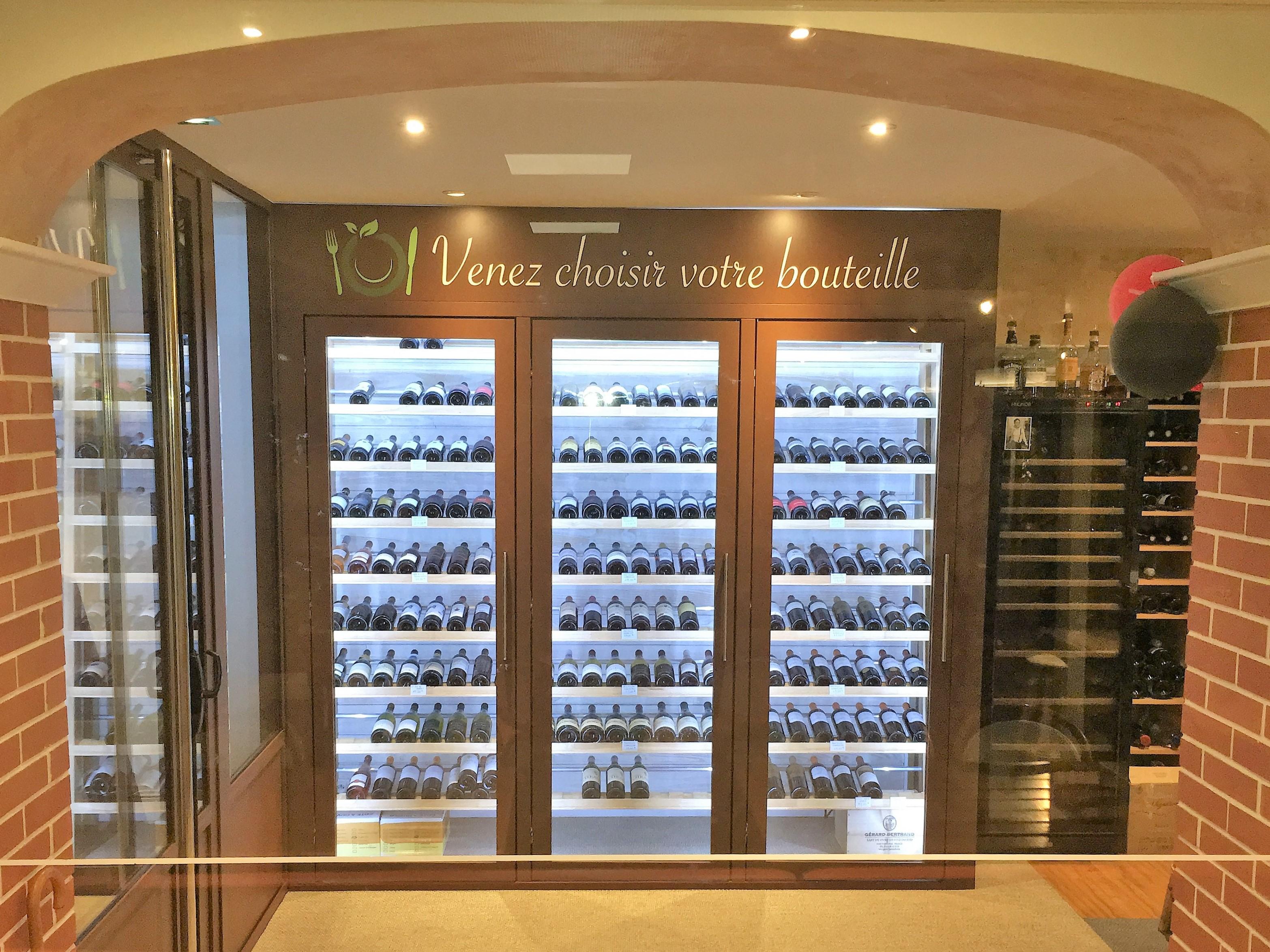 Notre cave à vins 200 bouteilles hors carte