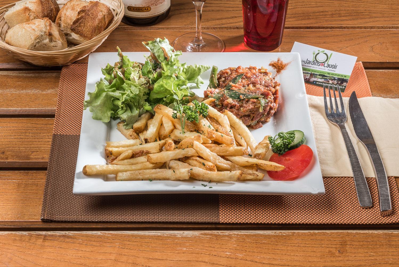 Tartare VBF frittes salade